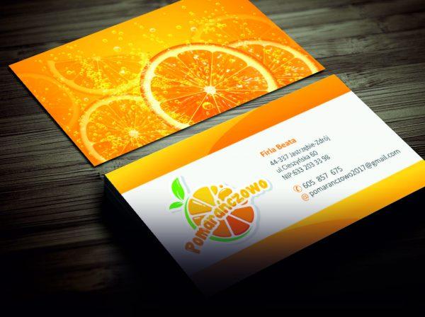 Wizytówki Pomarańczowo